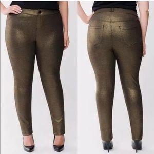 Lane Bryant Metallic Stretchy Skinny Pants
